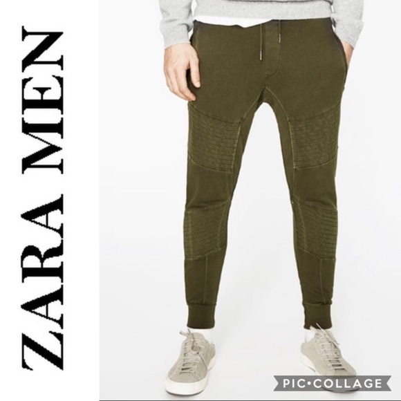 c6f6cc40dd ZARA Man Olive Green Jogger Pants Medium